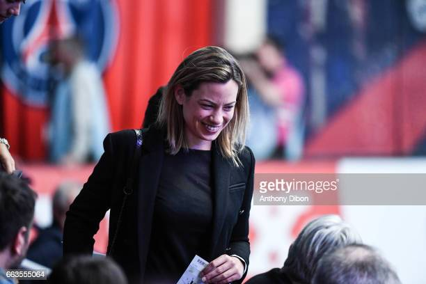 Anne Laure Bonnet during the Champions League match between Paris Saint Germain and Nantes at Stade Pierre de Coubertin on April 1 2017 in Paris...
