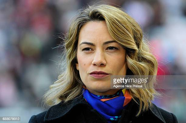 Anne Laure Bonnet journalist of beIn sports TV during the French Ligue 1 match between Nice and Guingamp at Allianz Riviera on January 29 2017 in...
