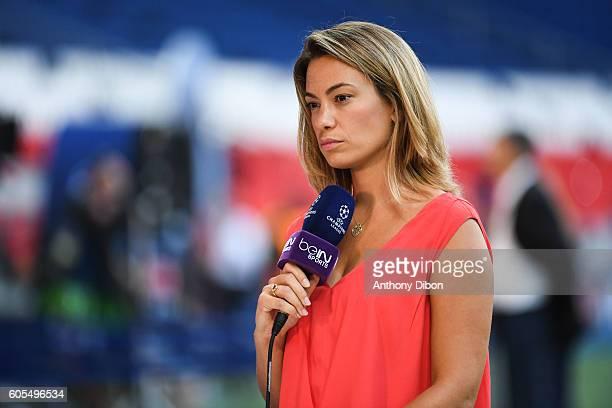 Anne Laure Bonnet of Bein Sport during the Uefa Champions League match between Paris Saint Germain and Arsenal at Parc des Princes on September 13...