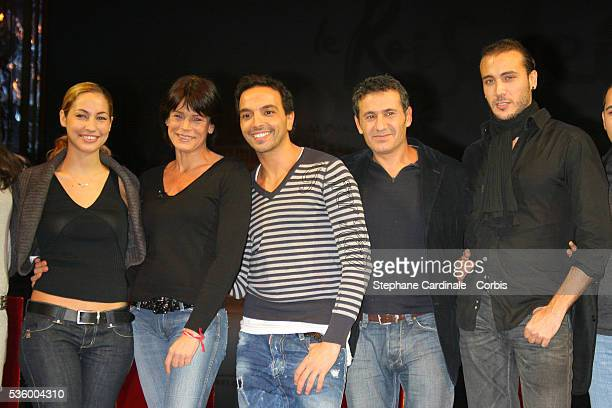Anne Laure Girbal HSH Princess Stephanie of Monaco Kamel Ouali Dove Attia and Merwan Rim attend the press conference to present 'De Versailles a...