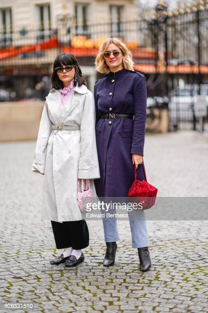 Anne Laure Mais 'Adenorah' attends the Nina Ricci show as part of the Paris Fashion Week Womenswear Fall/Winter 2018/2019 on March 2 2018 in Paris...