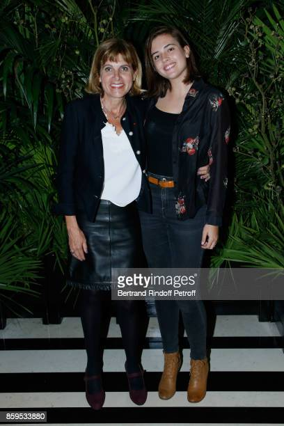 Anne Lauvergeon and her daughter Agathe attend the Diner des Amis de Care at Hotel Peninsula Paris on October 9 2017 in Paris France
