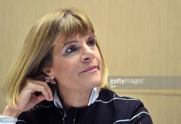 Anne Lauvergeon president and CEO of French nuclear giant Areva waits prior to explain the group's international strategy during a hearing at the...