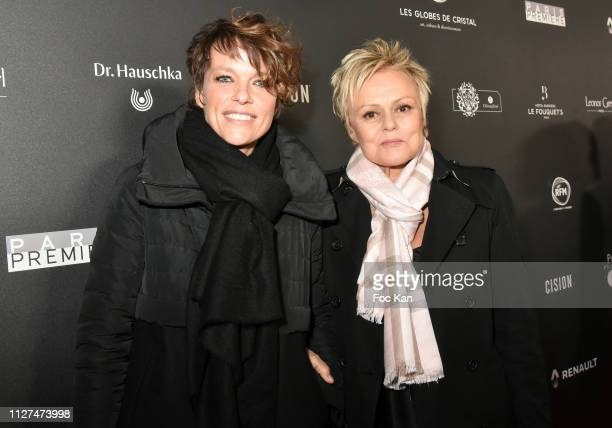 Anne le Nen and her companion Muriel Robin attend the 14th 'Globe De Cristal' ceremony at Salle Wagram on February 04 2019 in Paris France