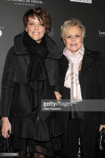 Anne Le Nen and Muriel Robin attend the 14th 'Globe De Cristal' ceremony at Salle Wagram on February 04 2019 in Paris France