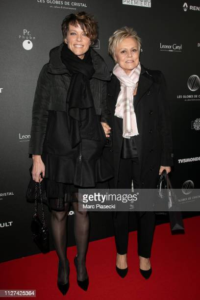 Anne Le Nen and Muriel Robin attend the 14th Globe De Cristal ceremony at Salle Wagram on February 04 2019 in Paris France