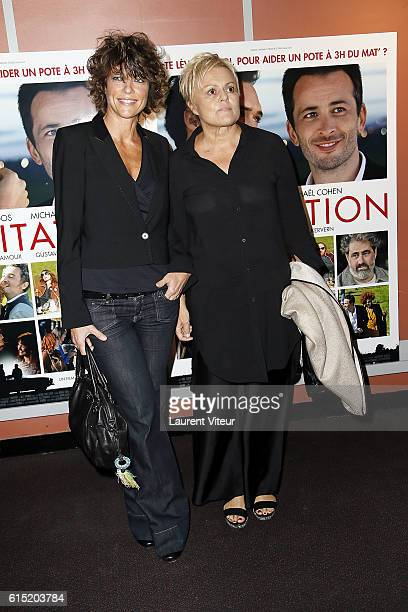 Anne Le Nen and Muriel Robin attend the l'Invitation Paris Premiere at UGC George V on October 17 2016 in Paris France