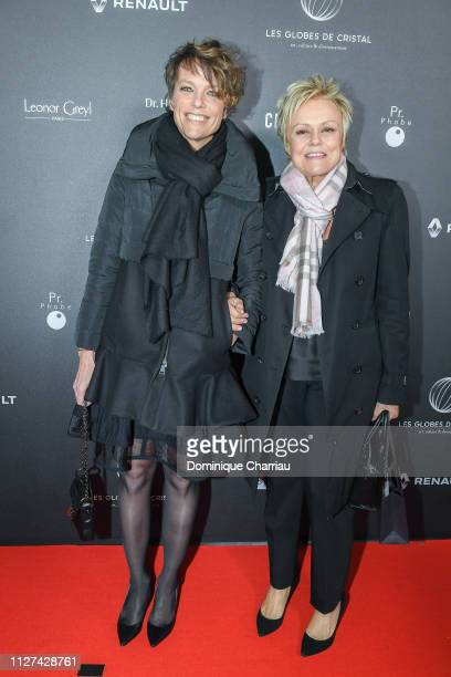 Anne le Nen and Muriel Robin attends the 14th 'Globe De Cristal' ceremony at Salle Wagram on February 04 2019 in Paris France