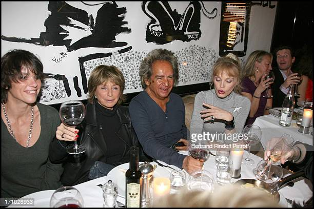 Anne Le Nen Daniele Thompson Albert Koski Arielle Dombasle at Louisa Morin Celebrates With Friends After Winning The Cesar D'Isabelle Adjani At...