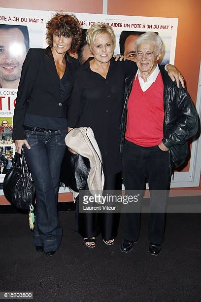 Anne Le Nen Muriel Robin and Guy Bedos attend the l'Invitation Paris Premiere at UGC George V on October 17 2016 in Paris France