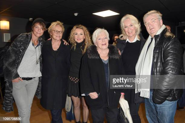 Anne Le Nen Muriel Robin Christelle Chollet Line Renaud Evelyne Buyle and Dominique Besnehard attend N°5 de Chollet at Salle Pleyel on January 17...
