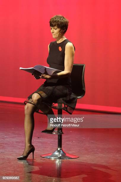 Anne Le Nen performs 'Les Monologues du Vagin' during 'Paroles Citoyennes 10 shows to wonder about the society' at Bobino on March 8 2018 in Paris...