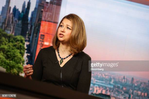 Anne Lester managing director and portfolio manager at JP Morgan Asset Management Inc speaks during a Bloomberg Television interview in New York US...