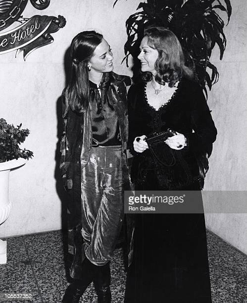 Anne Lockhart and June Lockhart during Academy of Magical Arts April 13 1976 at Beverly Wilshire Hotel in Beverly Hills California United States