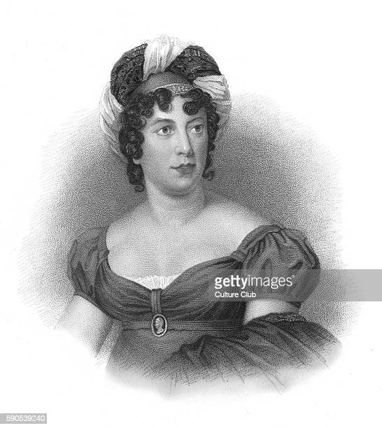 Anne Louise Germaine de Sta'l commonly known as Madame de Sta'l portrait FrenchSwiss writer 22 April 1766 Ð 14 July 1817 After the engraving by...