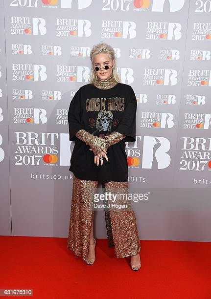 ARTIST Anne Marie attends BRITS nominations launch at ITV Studios on January 14 2017 in London England