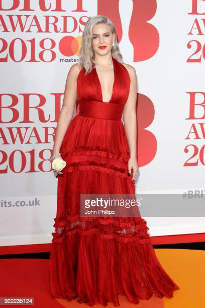 AWARDS 2018*** Anne Marie attends The BRIT Awards 2018 held at The O2 Arena on February 21 2018 in London England