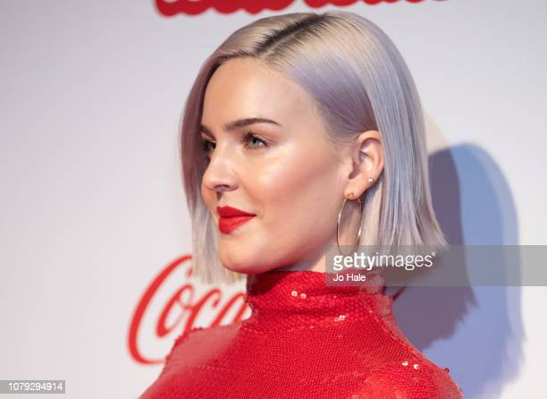 Anne Marie attends the Capital FM Jingle Bell Ball at The O2 Arena on December 08 2018 in London England