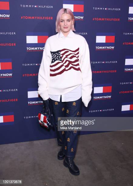 Anne Marie attends the TommyNow Step Repeat during London Fashion Week February 2020 at the Tate Modern on February 16 2020 in London England