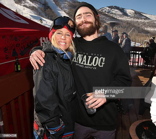 Anne Marie Dacyshyn and Burton Pro Riders Danny Davis attend Burton Learn To Ride Day 2 on January 20 2013 in Park City Utah