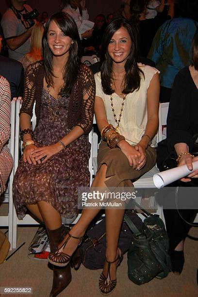 Anne Marie Dillard and Alexandra Dillard attend Cynthia Steffe Spring 2006 Collection at The Plaza at Bryant Park on September 12 2005 in New York...