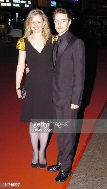 Anne Marie Duff and James McAvoy during The Times BFI 50th London Film Festival Opening Night Gala The Last King of Scotland Premiere at Odeon...