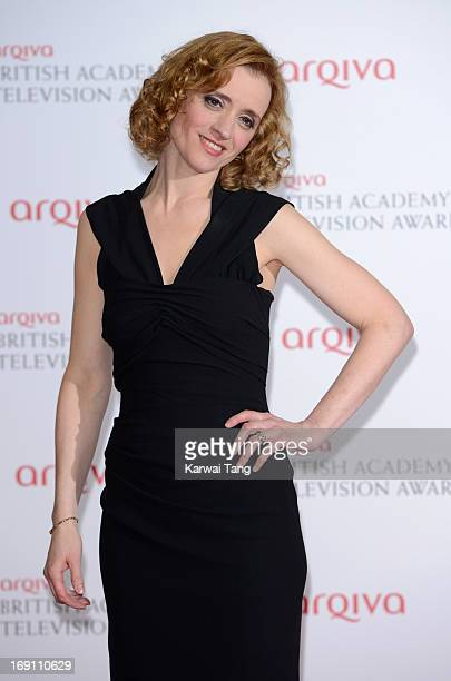 Anne Marie Duff poses in the press room at the Arqiva British Academy Television Awards 2013 at the Royal Festival Hall on May 12 2013 in London...