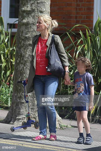 Anne Marie Duffy is seen with her son on July 13 2016 in London England