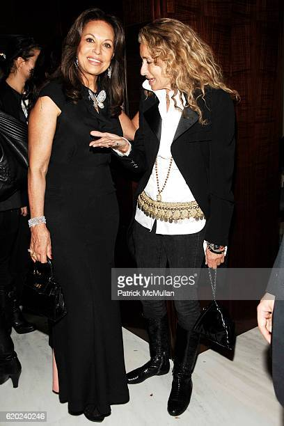 Anne Marie Graff and Ann Dexter Jones attend GRAFF Flagship Salon Opening hosted by LAURENCE GRAFF at Graff Flagship Salon on November 13 2008 in New...