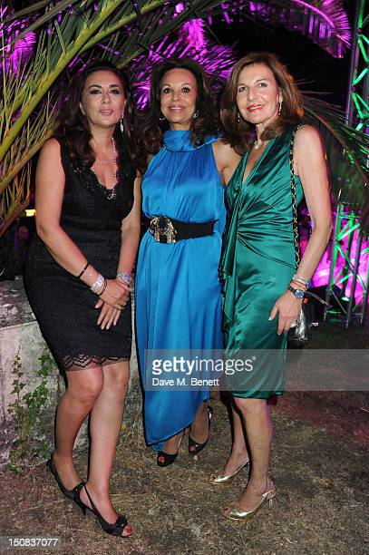 Anne Marie Graff and Joyce Reuben attend the 'Out of this World' summer party hosted by Goga Ashkenazi at her chateau in St Tropez on August 20 2012...