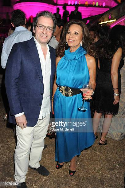 Anne Marie Graff attends the 'Out of this World' summer party hosted by Goga Ashkenazi at her chateau in St Tropez on August 20 2012 in St Tropez...