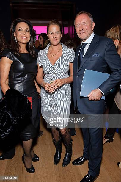 Anne Marie Graff Tracey Emin and Laurence Graff attend reception hosted by Graff held in aid of FACET at Christie's King Street on October 12 2009 in...