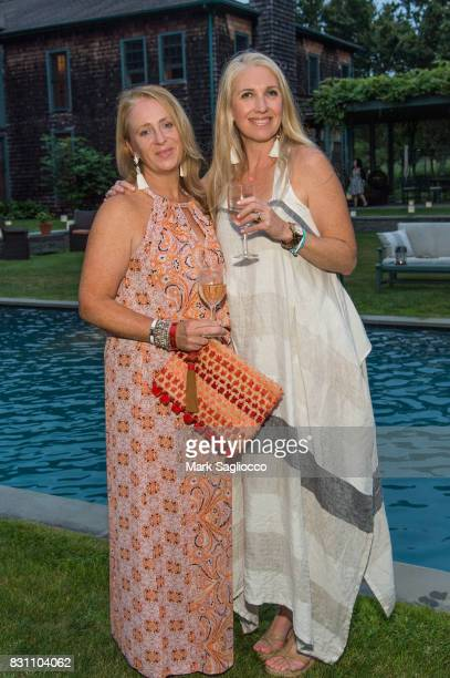 Anne Marie Kearns Robyn Lea and Olivia Khang attend Hamptons Magazine's Private Dinner Celebrating East Hampton Library Authors Night on August 12...