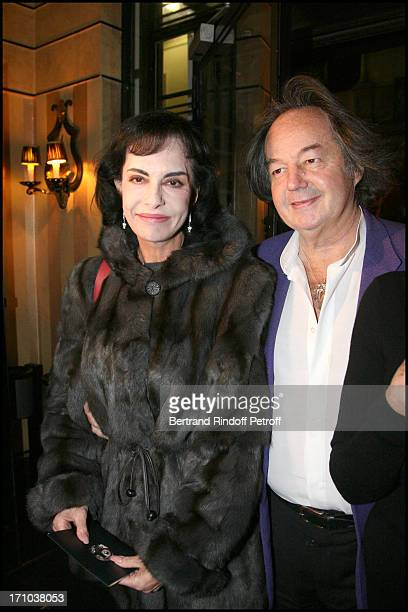 Anne Marie Mitterrand Gonzague Saint Bris at The Maitre Du Temps Evening Hosted By Jeweller Edouard Nahum And Exhibiting Paintings By Sylvie Breysse...