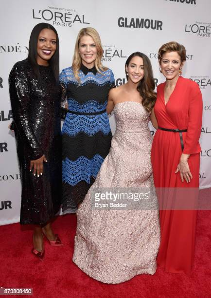 Anne Marie NelsonBogle Alison Moore Aly Raisman and Cindi Leive attend Glamour's 2017 Women of The Year Awards at Kings Theatre on November 13 2017...