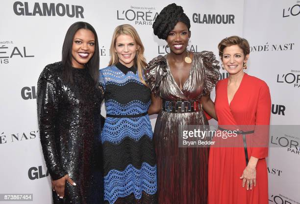Anne Marie NelsonBogle Alison Moore Bozoma Saint John and Cindi Leive attend Glamour's 2017 Women of The Year Awards at Kings Theatre on November 13...