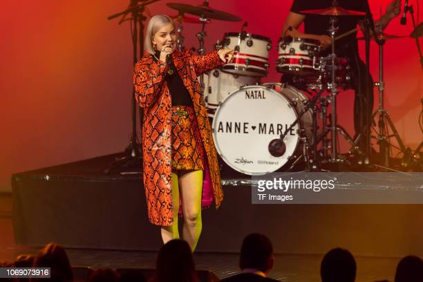 Anne Marie performs on stage at the 1Live Krone radio award at Jahrhunderthalle on December 6 2018 in Bochum Germany