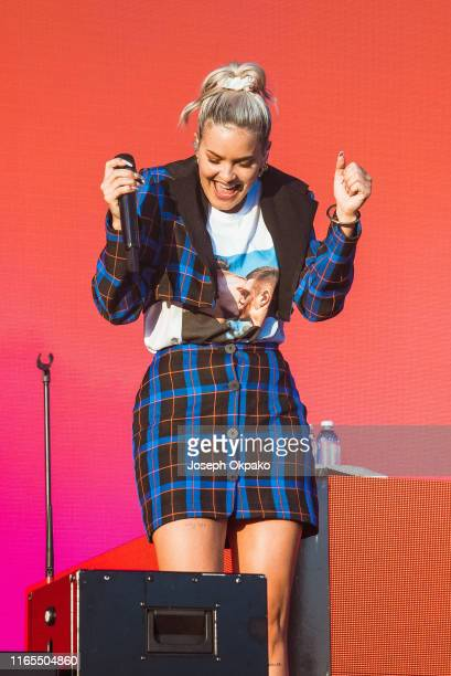 Anne Marie performs on stage during day 3 of Fusion Festival 2019 on September 01 2019 in Liverpool England