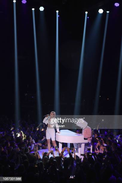 Anne Marie performs on stage during the MTV EMAs 2018 at Bilbao Exhibition Centre on November 4 2018 in Bilbao Spain