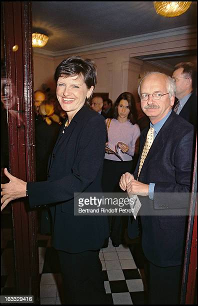 Anne Marie Perier and Erik Orsenna at Les Cotelettes Theatre Production In Paris 1997