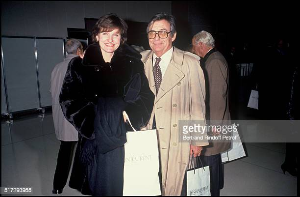 Anne Marie Perier and father Francois Yves Saint Laurent 30 years of career party
