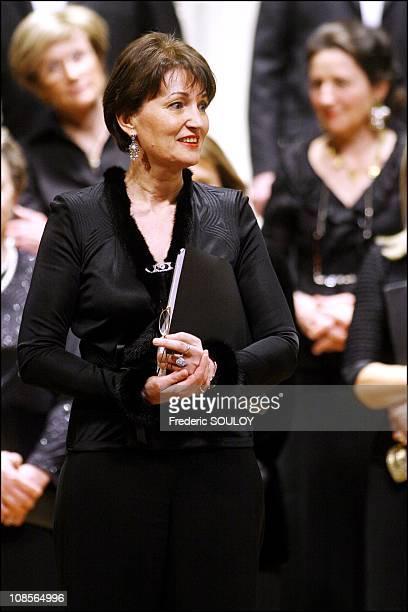 Anne Marie Raffarin in Paris, France on March 26, 2007.