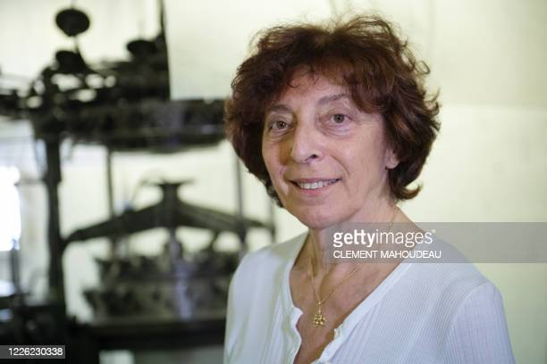 Anne Marie Tissot general manager of the Sugar clothes brand poses in the company factory in Marseille south of France on July 10 2020 The brand...