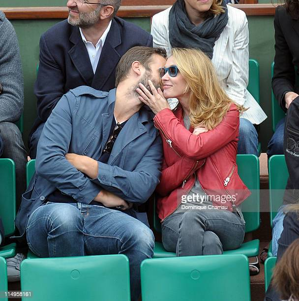 Anne Marivin and Joachim Roncin attend the French Open at Roland Garros on May 31 2011 in Paris France