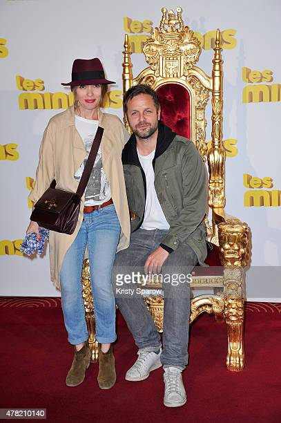 Anne Marivin and Joachim Roncin attend the 'Les Minions' Paris Premiere at Le Grand Rex on June 23 2015 in Paris France
