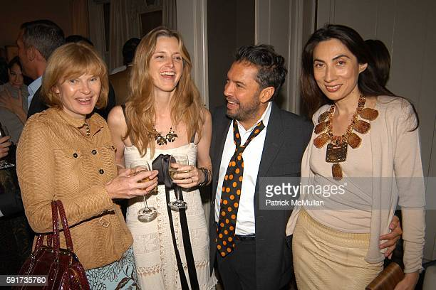 Anne McNally Amanda Cutter Brooks Carlos Mota and Anh Duong attend Allison Sarofim and Carlos Mota's Dinner in Honor of Tamara Mellon at The...