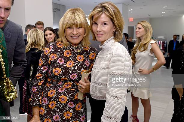 Anne McNally and Anna Scott Carter attend the Saks Fifth Avenue Vanity Fair 2016 International Best Dressed List Celebration at Saks Fifth Avenue on...