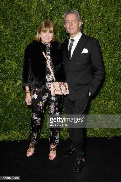 Anne McNally and Carlos Souza attends The Museum of Modern Art Film Benefit presented by CHANEL A Tribute to Julianne Moore at MOMA on November 13...