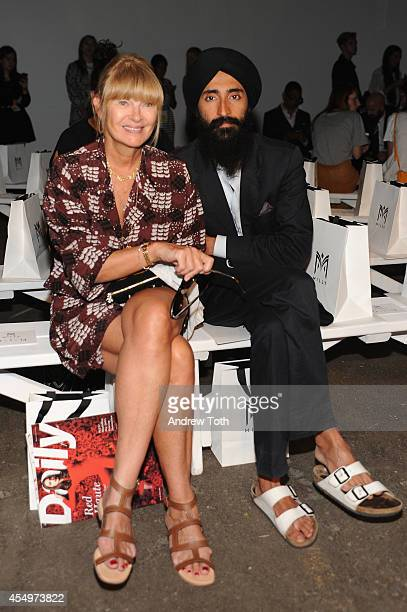 Anne McNally and designer Waris Ahluwalia attend Milly By Michelle Smith during MercedesBenz Fashion Week Spring 2015 at Art Beam on September 8 2014...