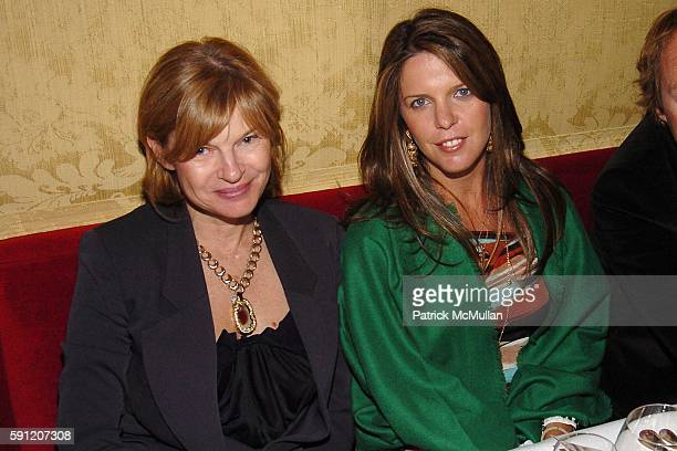 Anne McNally and Emilia Fanjul Pfeifler attend Dinner to celebrate the launch of the ROGER VIVIER Boutique in Saks Fifth Avenue at La Grenouille on...